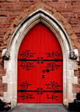 The red door of church in Birmingham city Stock Photography