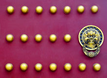 Red door close up Stock Image