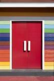Red Door closed Stock Photo