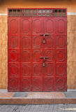 Red Door. A closed red door in the Medina of Marrakesh, Morocco, North Africa royalty free stock photos