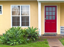Red door entrance. Royalty Free Stock Photo