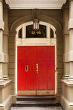 Red Door Entrance Royalty Free Stock Photography