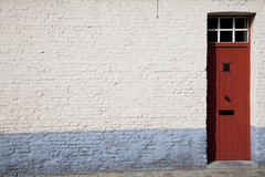 Red door entrance way Royalty Free Stock Photo