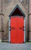 Red Door of Grote kerk (Big Church) in The Hague Royalty Free Stock Photo