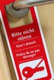 Red door hanger Stock Photo