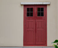 Red door of the house at Chinatown district in Singapore Stock Photo