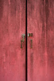 Red door with the lock Stock Photos