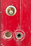 Red door lock Stock Image