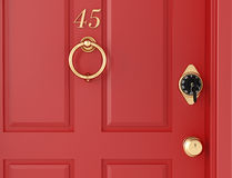 Red door with locker Royalty Free Stock Photos