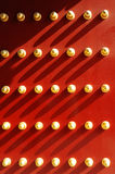 Red door and nails Stock Photos
