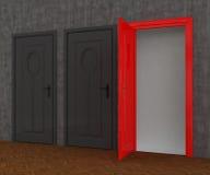 Red Door open Stock Photography