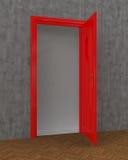 Red Door open Stock Photo