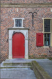 Red door of the Petershuis in Gennep. Netherlands Stock Photo