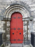 Red Door, Stone Arch Stock Image