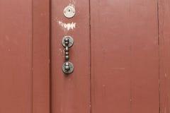 red door straight metal knob 1 Stock Images