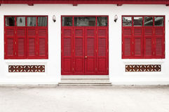 Red door temple Royalty Free Stock Photos
