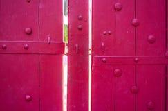 Red door. Vintage red door in country of Thailand Stock Image