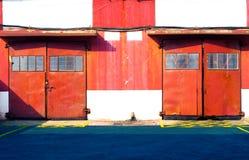 Red door warehouse Stock Photos