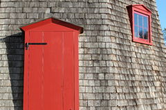 Red door and window Stock Image