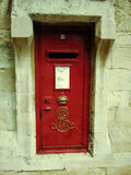 Red door in windsor castle,england Stock Photo