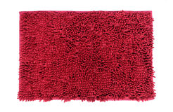 Red doormat isolated on white background. (clipping path in side Royalty Free Stock Photography