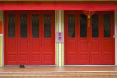 Red Doors. Red Temple Doors, Singapore Royalty Free Stock Image