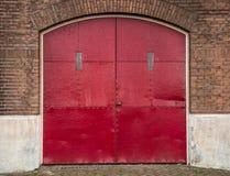 Red doors Stock Image