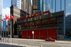 Fire Station in Hong-Kong... royalty free stock photo