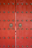 Red doors Wen Miao confucius temple shanghai china Stock Images