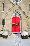 Red Doorway Stock Photo
