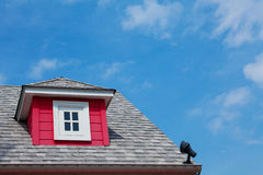 Red dormer Stock Image