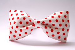 Red dot bow tie Royalty Free Stock Image