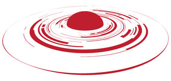 Red dot button Stock Images