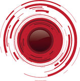 Red dot button. A abstract camera lens button Royalty Free Stock Image
