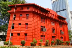 Red Dot Design Museum, Singapore - April 10, 2016: Red Dot Design Museum Singapore is one of the top Singapore attractions, an un. Ique place of interest in stock photos