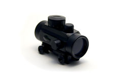 Red dot sight. Isolated red dot gun sight Stock Photography