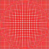 Red dot sphere Stock Images