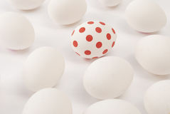 Red doted egg Royalty Free Stock Photo
