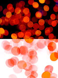 Red dots. Photographic effects of red blurry lights Royalty Free Stock Photography