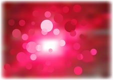 Red dots. Red and white dots on blurred background Stock Image
