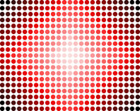 Red dots abstract. Image with glowing look at the centre stock illustration