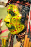 Red dots in Papua New Guinea Royalty Free Stock Images