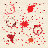 Red Dotted Art background Stock Image