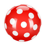 Red dotted ball Royalty Free Stock Photos