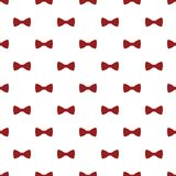 Red dotted bow tie pattern seamless royalty free illustration