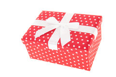 Red dotted gift Royalty Free Stock Photo