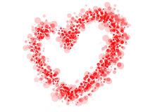 Red dotted heart Stock Images