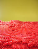 Red dotted pane Stock Photos