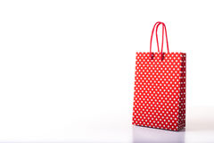 Red and dotted shopping bag. Stock Photography