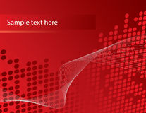 Red Dottet Background Royalty Free Stock Photos
